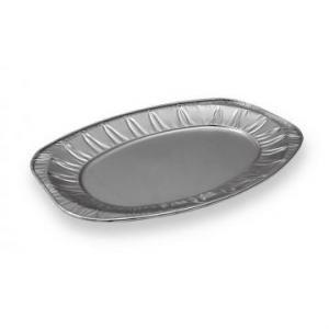 Platou aluminiu oval mijlociu 445x295mm, 10/set