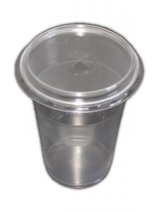 Pahar plastic cu capac