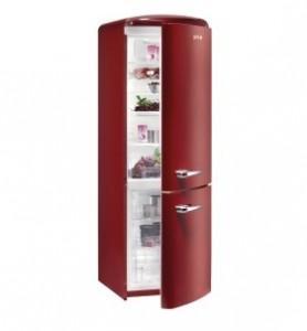 Combina frigorifica Gorenje, 315 L, clasa A++, 187,7 x 60 x 64 cm, VENTILATOR control + afisaj electronic, BORDEAUX, 444689