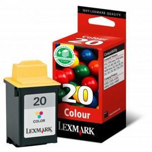 Lexmark ink 20 / 15M0120E Color Print Cartridge - 015MX120E, 015MX120E