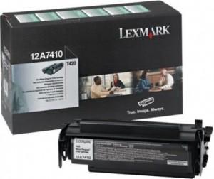 Toner  Lexmark 12A7410 Negru