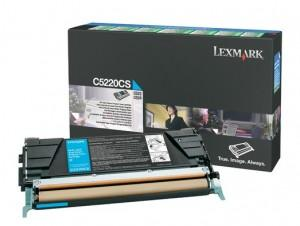 Toner Cartridge Lexmark C5220Cs, pt C522, C524, C53x, Cyan, Return Program, 3.000 pages, C5220CS