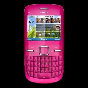 Telefon mobil Nokia C3-00 Hot Pink, NOKC3GSMPNK