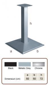 Picioare (baze) de masa cu baza patrata KARE CAFE