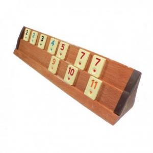 Set joc remi din lemn masiv Rummy Kardesler