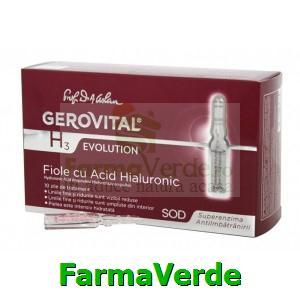 Fiole cu acid hialuronic 10fioleX10ml Gerovital H3 Evolution