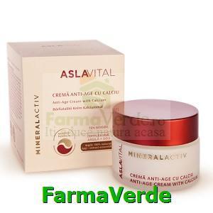 Crema anti-age cu calciu 50 ml Aslavital MineralActiv Farmec