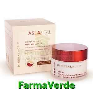 Crema antirid mineralizanta SPF15 Aslavital MineralActiv Farmec