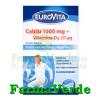 Eurovita Calciu 1000mg + Vitamina D3 20ug 30 cpr Europharm