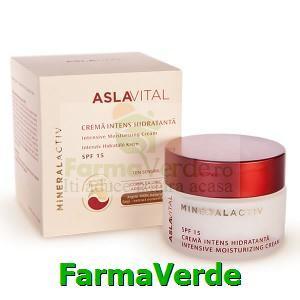 Crema intens hidratanta SFP15 Aslavital Mineral Activ Farmec