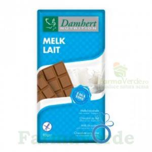 Damhert Ciocolata cu lapte fara zahar cu tagatoza tableta 85 gr