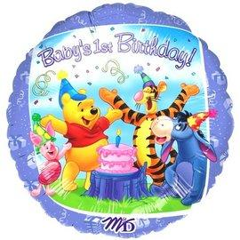 Balon folie metalizata 45cm WINNIE Happy Birthday PARTY