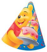Set de 6 coifuri petrecere copii WINNIE BIRTHDAY