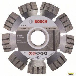 Disc debitat beton armat Bosch Best, 115 mm, prindere 22.23 mm Bosch