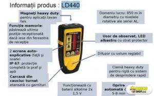 Receptor LD440 - pentru nivela rotativa CST Berger
