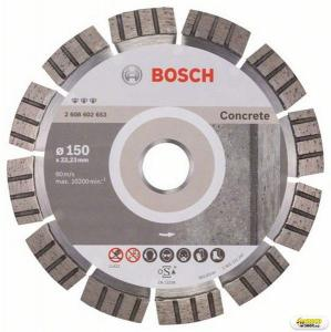 Disc diamantat taiere beton armat Bosch Best, 150 mm, prindere 22.23 mm Bosch