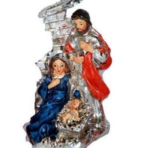 Decoratiune argint nasterea lui iisus