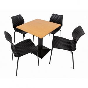 Set terasa outdoor masa CARDIFF OAK SMARTLINE cu scaune UNI 550
