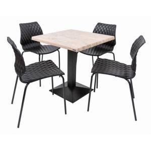 Set terasa outdoor masa CARDIFF WASHINGTON PINE cu scaune UNI 550