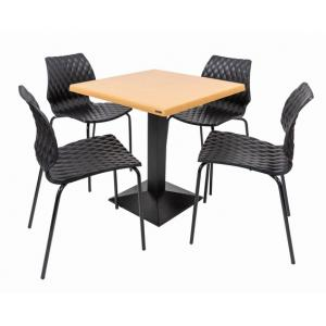 Set terasa outdoor masa CARDIFF OAK cu scaune UNI 550
