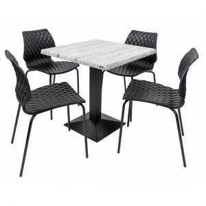 Set terasa outdoor masa CARDIFF URBAN SPRUCE cu scaune UNI 550