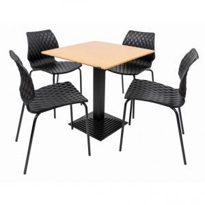 Set terasa outdoor masa BOSTON OAK SMARTLINE cu scaune UNI 550