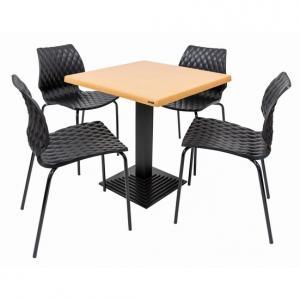 Set terasa outdoor masa BOSTON OAK cu scaune UNI 550