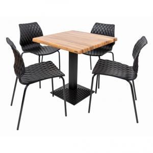 Set terasa outdoor masa BOSTON WASHED ELM cu scaune UNI 550