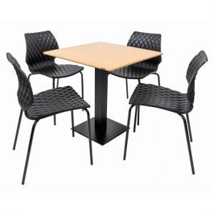 Set terasa outdoor masa DUBLIN OAK SMARTLINE cu scaune UNI 550