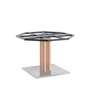 Picioare (baze) de masa metalica cu lemn h73 INOX 4499 RV REG