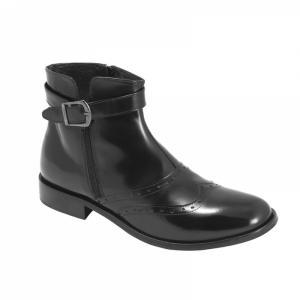 Ghete Integral din Piele Sagra Shoes Cardif - Negru