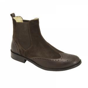 Ghete Integral din Piele Sagra Shoes Preston - Maro
