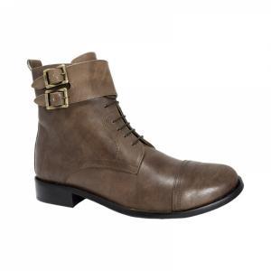Ghete Integral din Piele Sagra Shoes Glasgow - Maro