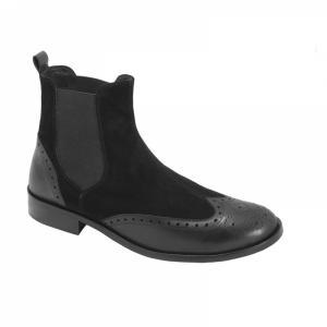 Ghete Integral din Piele Sagra Shoes Preston - Negru
