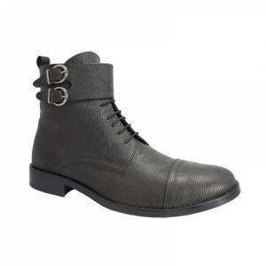 Ghete Integral din Piele Sagra Shoes Glasgow - Negru