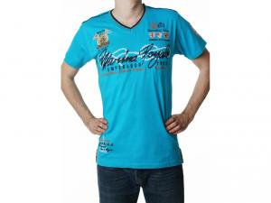 Tricou GEOGRAPHICAL NORWAY - julio men ss assort a turquoise