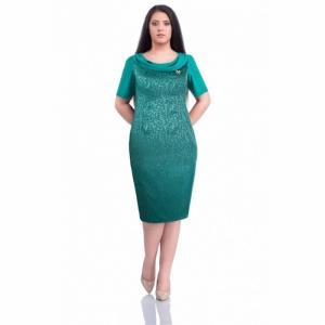 Rochie eleganta din jaquard Dorina, turquoise