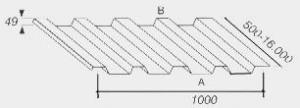 Tabla trapezoidala de 4mm