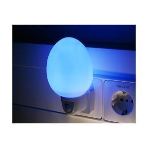 Lampa de noapte cu 4 LED-uri, ovala albastra