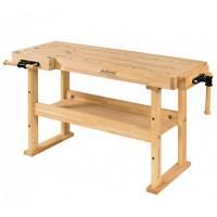 Banc de lucru din lemn 1500x650x850 mm cu 2 menghine Advanced 1500 RAMIA