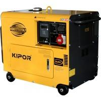 "Generator diesel insonorizat trifazat 5,5 kW 3000 rpm ""Super Silent"" KDE 6700 TA3 KIPOR"