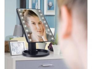 Oglinda cosmetica iluminata cu 22 LED Make Up touch