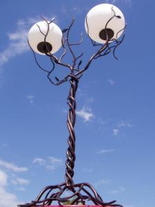 """Lampadar ornament """"Arbore"""" din fier forjat"""