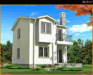 Casa pe structura metalica usoara