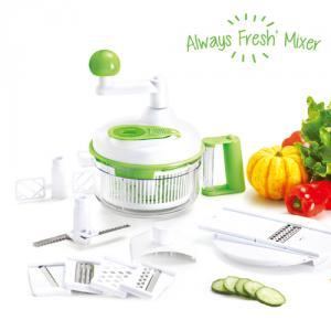 Dispozitiv Fresh 6 in 1: mixer,razatoare, tocator, centrifuga, separator, storcator