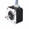 Motor stepper Nema 17 Bipolar 1.8deg 42Ncm  1.5A , 42x42x25mm 4 Wires