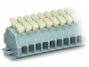 2-conductor terminal strip; 10-pole; on both sides with push-buttons;