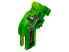 End module for 1-conductor female connector; angled; 4 mmA²; 1-pole; 4,00 mmA²; green-yellow