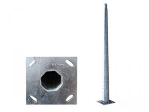 Stalp metalic octogonal cu flansa inaltime 12 metri