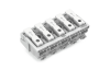 Lighting connector; push-button, external; without ground contact; 5-pole; Lighting side: for solid conductors; Inst. side: for all conductor types; max. 2.5 mmA²; Surrounding air temperature: max 85A°C (T85); 2,50 mmA²; white
